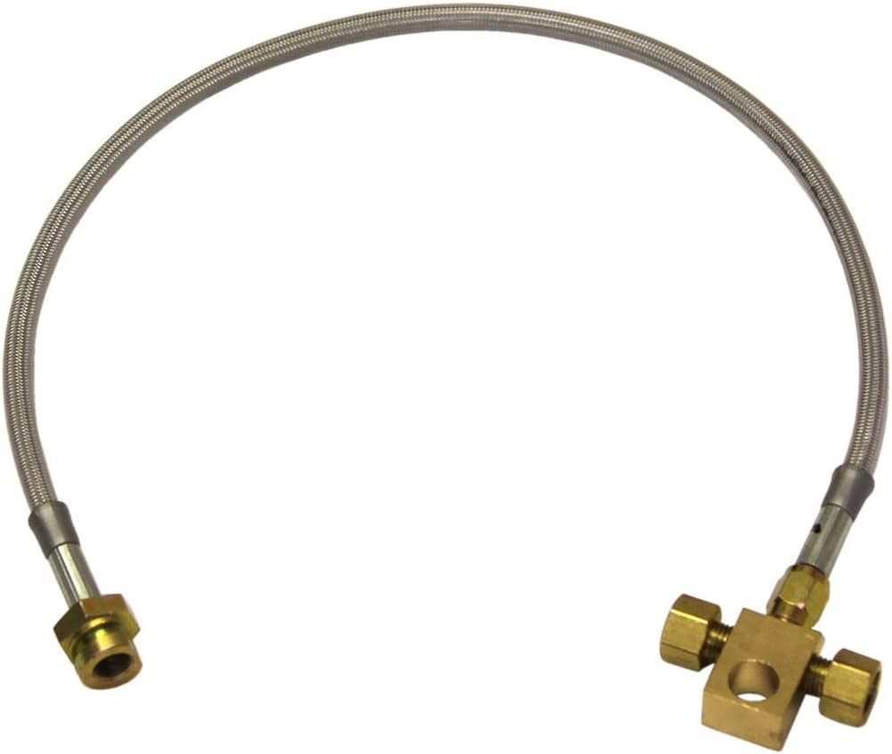 Rough Country 89360S Front Extended Stainless Steel Brake Line for 4-6-inch Lifts