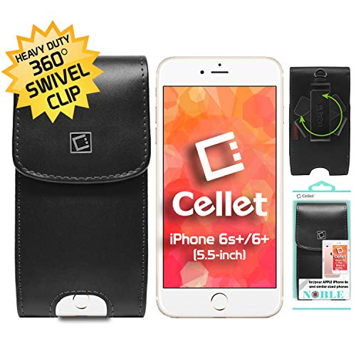 Cell-Stuff Vertical Leather Noble Executive Case with Swivel Belt Clip Compatible w/Google Pixel 3a - Executive Vertical Case