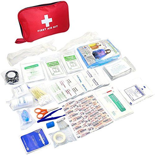 Acepstar 180 Pieces First Aid Kit, Compact Survival Medical Kit Emergency Bag For Home, Auto, Travel