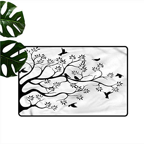 (Pet Door mat Birds Tropical Jungle Abstract Tree Personality W24 xL35)