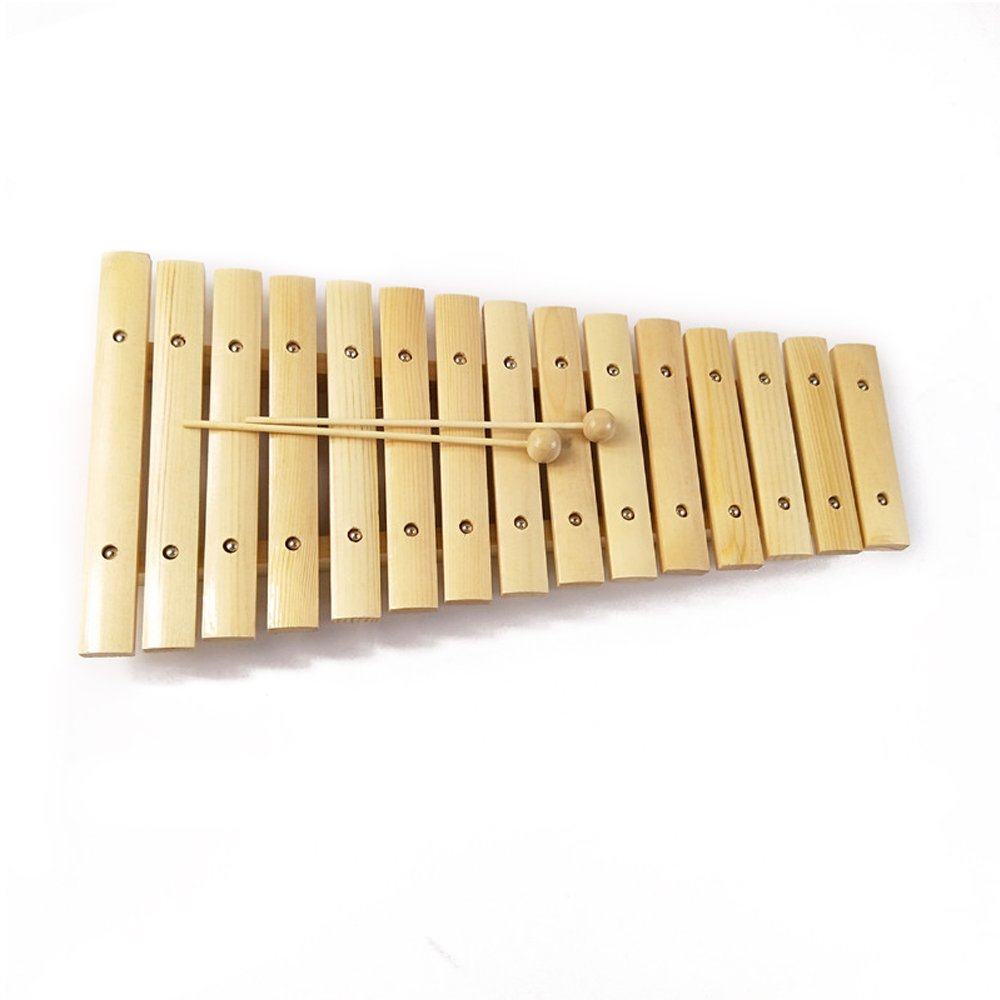 Baidercor 15 Tones Wooden Xylophone Musical Toys