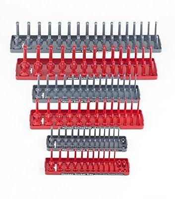 Hansen Global 92000 SAE & Metric Socket Storage Trays - 6 Piece Set by Hansen Global