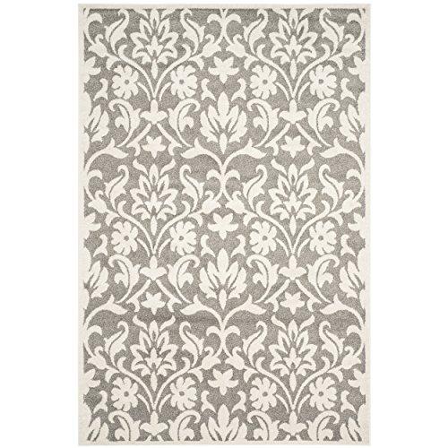 Safavieh Amherst Collection AMT424R Dark Grey and Beige Indoor/Outdoor Area Rug (6' x 9')
