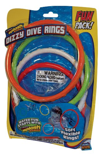 Prime Time Toys - Diving Masters Dizzy Dive Rings (4 Pack Pool Dive Toys) - Pool Master Diving Rings