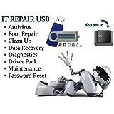 IT Computer Repair - Antivirus Recovery Password Reset PC Repair Drivers Bootable Boot USB Flash Thumb Drive