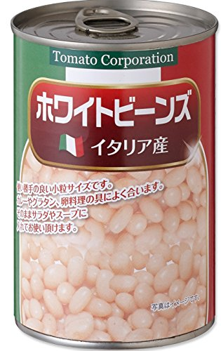 Tomato Corporation White Beans (Italy production) EO can 400gX24 pieces by TOMATO