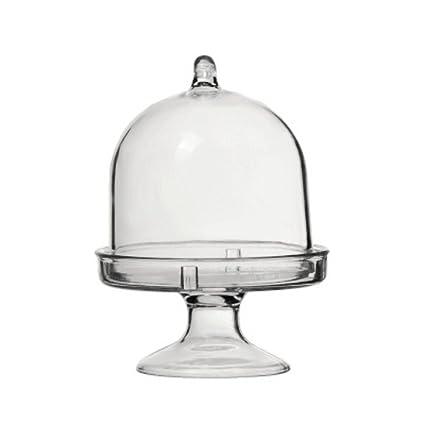 Amazon.com: BESTONZON Plastic Mini Cake Plate with Stand and Dome ...