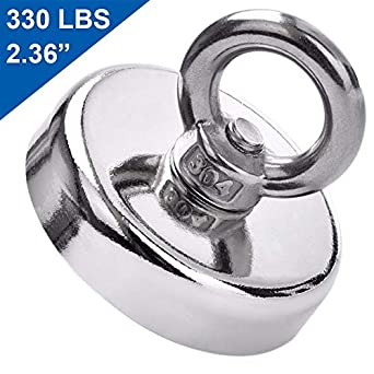 5fdca2b6d62 DIYMAG Super Strong Neodymium Fishing Magnets, 330 LBS(150 KG) Pulling  Force Rare