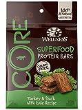 Wellness CORE Superfood Protein Bars Natural Grain Free Dog Treats, Turkey & Duck, 5.5-Ounce Bag