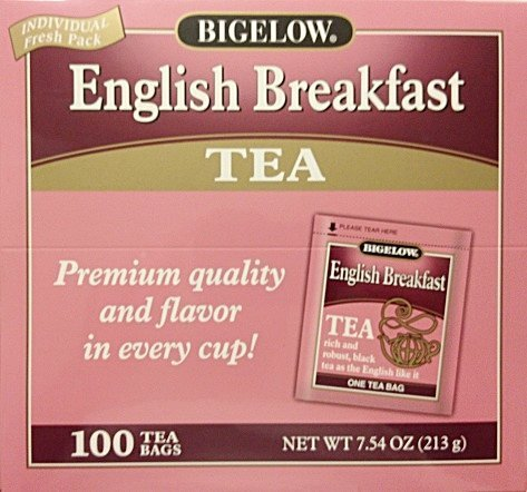 Bigelow English Breakfast Tea 100 tea Bag Box