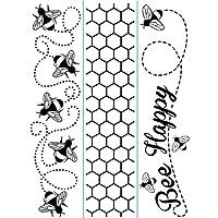 Darice 3-Pack Bee Border Theme Embossing Folders