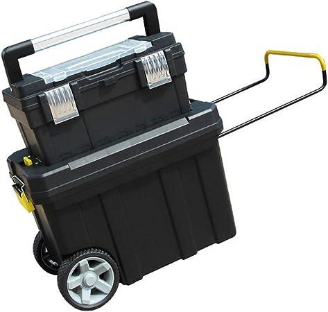 Organizador de Herramientas Caja de almacenamiento con ruedas portátil de plástico Manija de la caja de herramientas y Bandeja superior extraíble Administrador de la caja de herramientas del garaje de: Amazon.es: Hogar