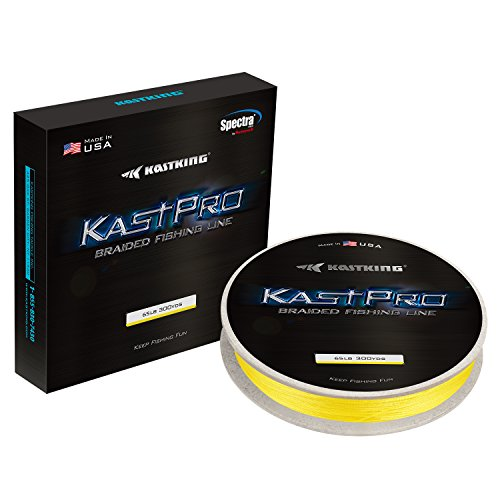 - KastKing KastPro Braided Fishing Line - Spectra Super Line - Made in The USA - Zero Stretch Braid - Thin Diameter - On Biodegradable BioSpool! - Aggressive Weave - Incredible Abrasion Resistance!