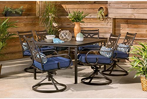 Hanover Montclair 7-Piece All-Weather Outdoor Patio Dining Set