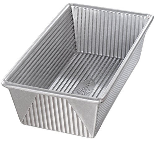 PFOA & BPA Free, Unique Corrugated Surface Design Loaf Pan in Silver, 9 inch x 5 inch x 2.75 inch