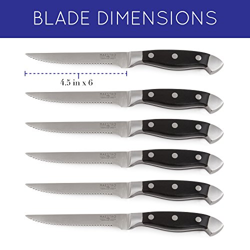 Maestro Cutlery Volken Series German High Carbon Stainless Steel Professional Knifes – 15 Piece Knife Set by Maestro (Image #4)