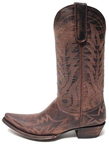 Old Gringo Nevada Mad Dog Chocolate Womens Boots (Chocolate Mad Dog)