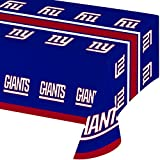 Creative Converting Officially Licensed NFL Plastic Table Cover, 54x102, New York Giants