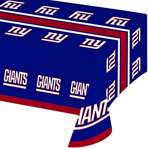 (Creative Converting Officially Licensed NFL Plastic Table Cover, 54x102, New York Giants)