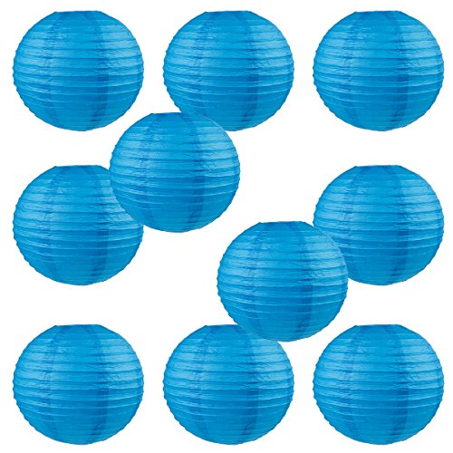WYZworks-Round-Paper-Lanterns-10-Pack-Blue-10-with-8-10-12-14-16-option