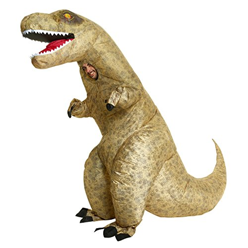 Morph Men's Giant T-rex Inflatable Costume, Dinosaur, Adults