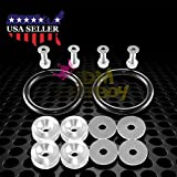 JDM Silver Quick Release Fasteners For Car Bumpers Trunk Fender Hatch Lids Kit from JDMBESTBOY