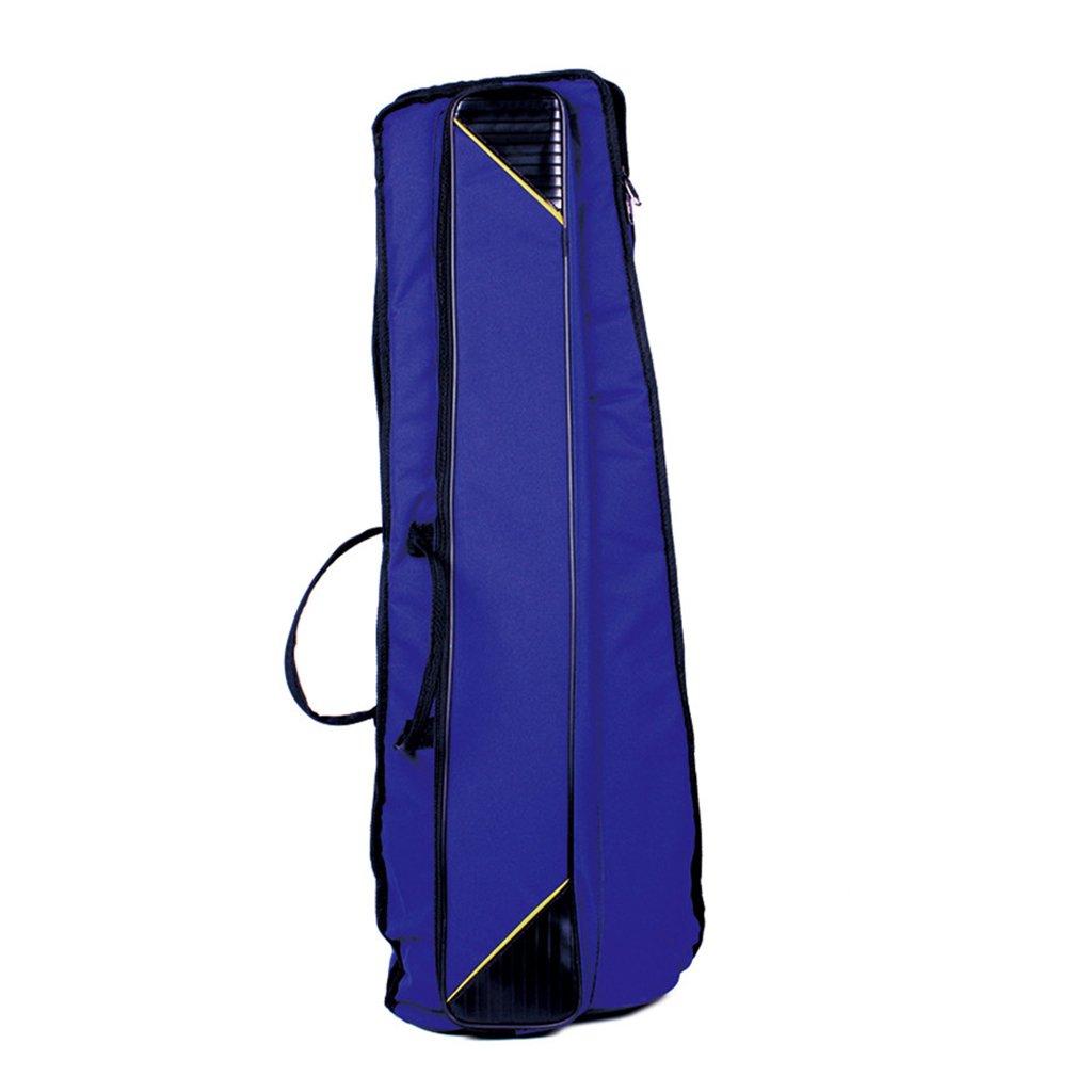 MonkeyJack Portable Shoulder Bag Carry Gig Bag for Tenor Trombone Protection Accessory Blue 35.82inch
