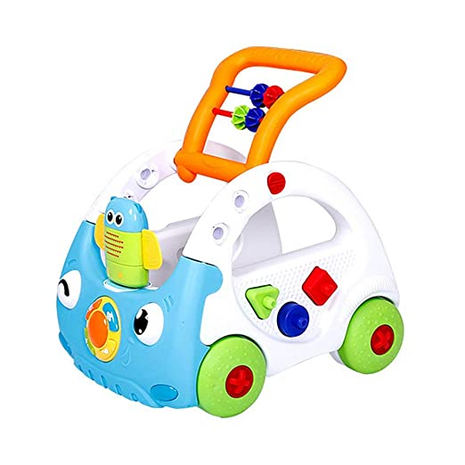 Juguete para empujar y tirar del carrito rodante Baby Walker Sit ...