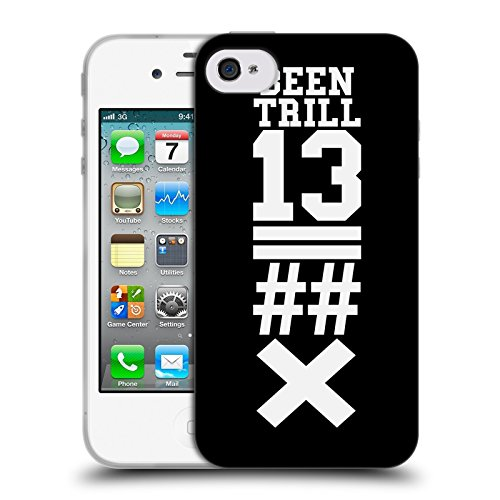 Official Been Trill Black X Jersey Soft Gel Case for Apple iPhone 4 / 4S