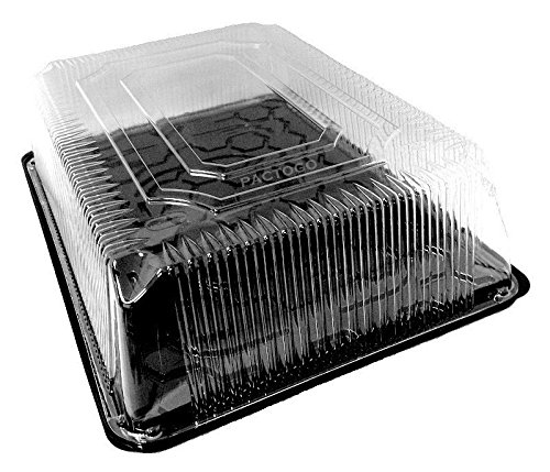 1/2 Dome (D&W FinePack Wilkinson G95 Black 1/2 Half Size Sheet Display Cake Tray w/Clear High Dome Lid (pack of 5))