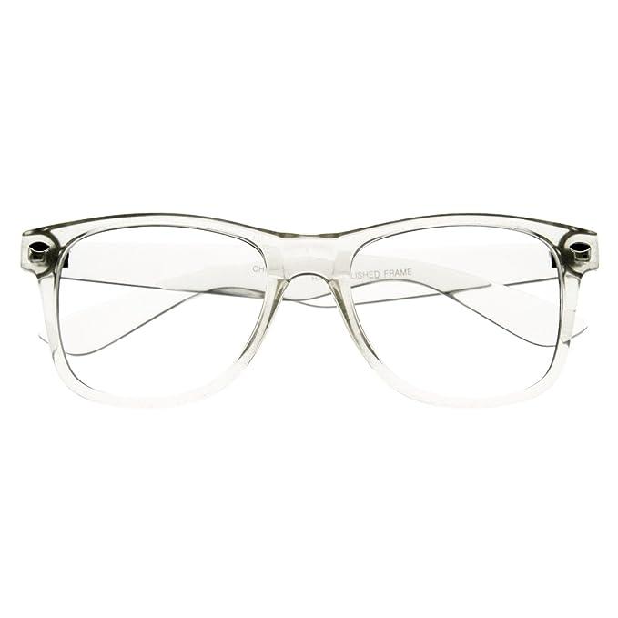 Amazon.com: RETRO Transparent 80s Crystal Men Women Trendy Frame ...