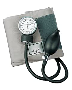 ADC Prosphyg 770 Pocket Aneroid Sphygmomanometer with Adult Blood Pressure Cuff with Black Carrying Case, Gray