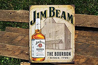 ShopForAllYou Vintage Decor Signs Jim Beam Still House Tin Metal Sign - Kentucky Bourbon Whiskey - Nostalgic Retro