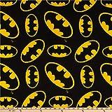 Camelot Fabrics DC Comics Batman Fleece Tossed, Yard, Multi