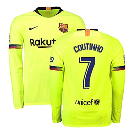 best loved 10729 eb456 Amazon.com : 2018-2019 Barcelona Away Nike Long Sleeve ...