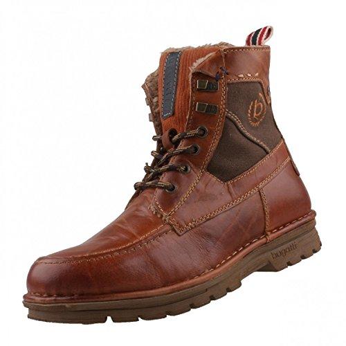 bugatti - Botas de Piel para hombre marrón Braun (bordo/brown 3560), color marrón, talla 46 EU