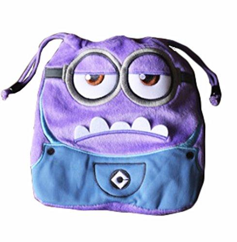 rare Schultertasche Tasche Shoulder Bag Rucksack reisetaschen Lila Brille Plush new