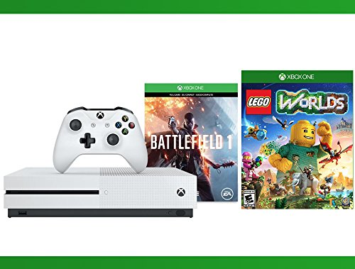 Xbox One S 500 GB Battlefield 1 Console + LEGO Worlds Bundle + WWE ...