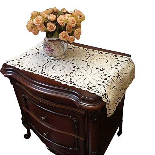 USTIDE Rustic Floral Table