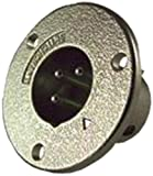 xlr panel jack - Switchcraft C3M 3-Pin Male Panel Jack, Nickel Finish
