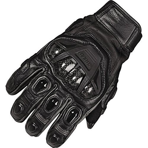 Speed and Strength Full Battle Rattle Men's Leather Street Racing Motorcycle Gloves - Black/Black / X-Large