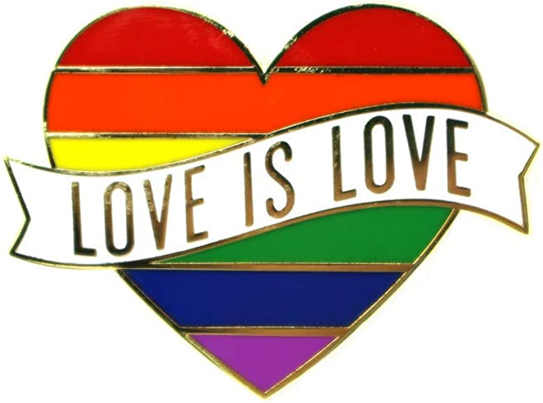 bbf58c21226 Amazon.com: Gay Pride Heart Rainbow Flag Lapel Pin - LGBTQ Pins -