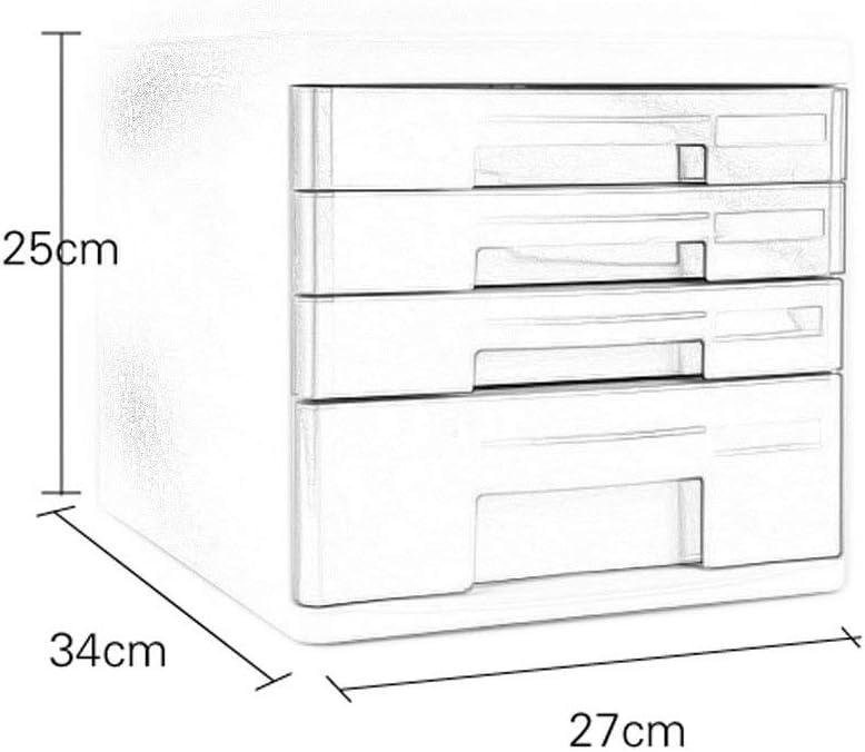 LKJH File Cabinets Office 4-Layer Desktop Drawer Data Storage Box Office Desktop Drawer Data Cabinet 1