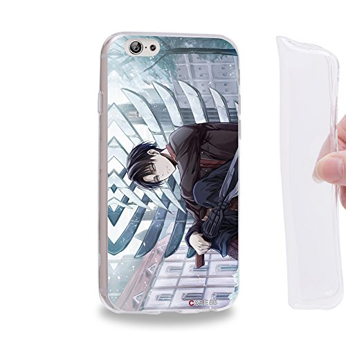Case88 TPU Designs Attack on Titans Levi Gel TPU Phone case Cover for Apple iPhone 6 / 6s - Phone Levis Mobile