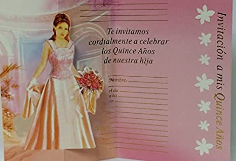 Amazon.com: Mis Quince Anos Invitations Sweet 15 Invitations in Spanish 12 count: Kitchen & Dining