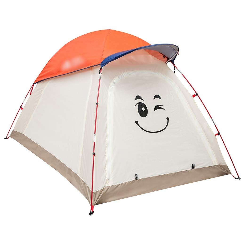 YaNanHome Festzeltzelt Zelt des Zeltes im Freien 1-2 Leute kampierendes Zelt, welches Zelt Eltern-Kindzelt-Doppeltfarbe wandert, wahlweise freigestellt (Farbe : Orange, Größe : 210  145  120cm)