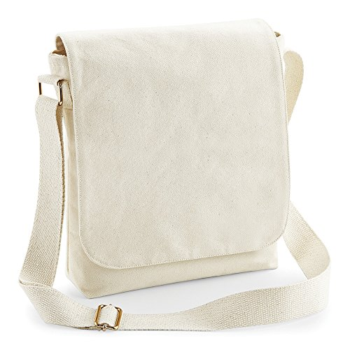 Westford Mill - Borsa Messenger in cotone eco-sostenibile - Naturale
