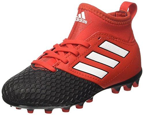 adidas Unisex-Kinder Ace 17.3 AG J Futsalschuhe, Rot/Schwarz Rot (Red/ftwwht/cblack)