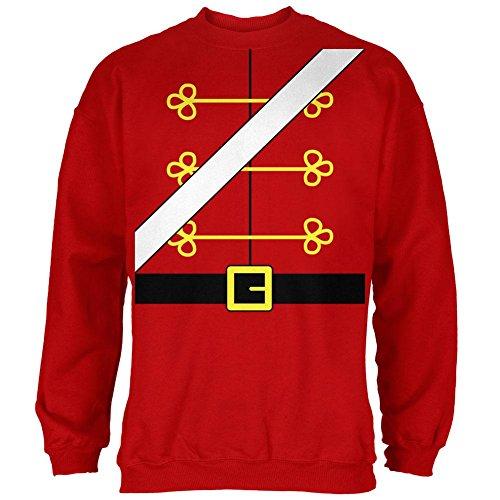 Christmas Toy Soldier Nutcracker Costume Mens Sweatshirt Red ()