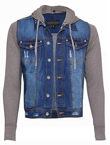 Genius Club Men's New Quality Stone Washed Denim Jacket W Detachable - Wetsuit Measurement Chart